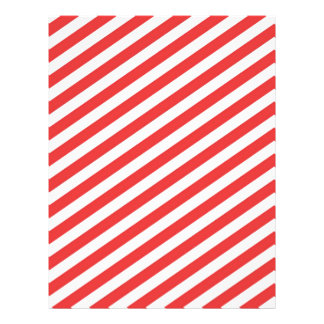 Vintage Red White Girly Stripes Pattern Flyers