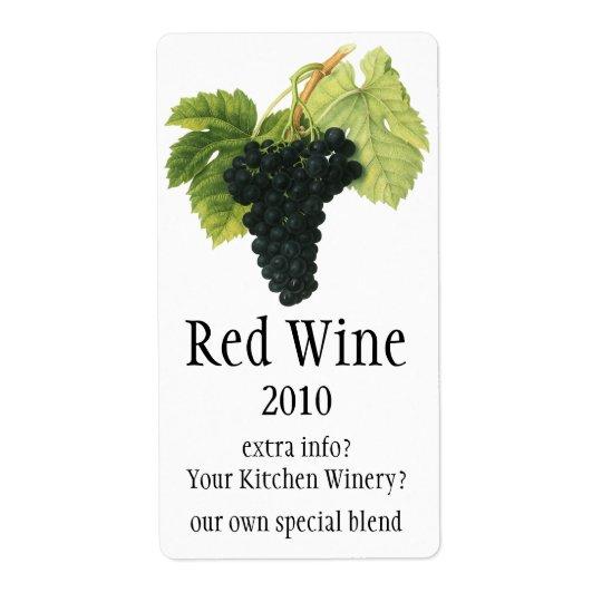 Vintage Red Wine Organic Grape Cluster, Food Fruit