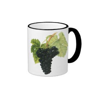 Vintage Red Wine Organic Grape Cluster, Food Fruit Ringer Mug