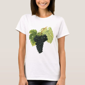 Vintage Red Wine Organic Grape Cluster, Food Fruit T-Shirt