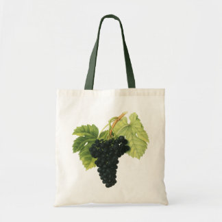 Vintage Red Wine Organic Grape Cluster, Food Fruit Tote Bag
