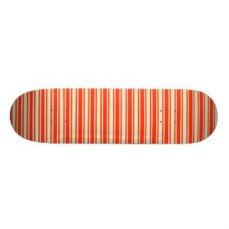 Vintage Red Yellow Chic Stripes Pattern Skateboard Deck