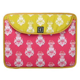 Vintage red/yellow color background sleeve for MacBook pro
