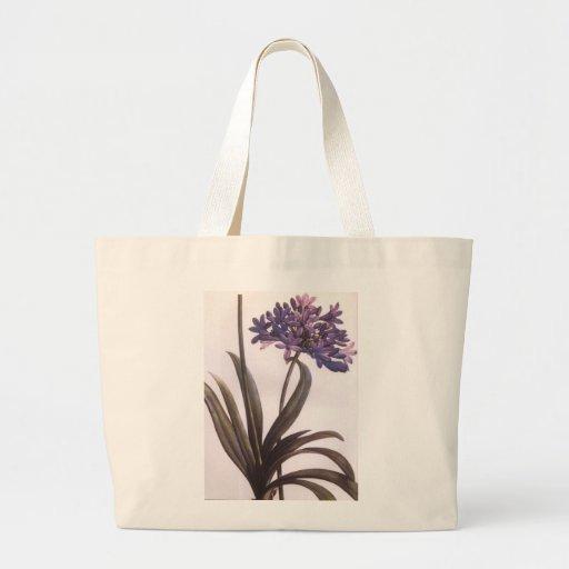 Vintage Redoute Purple Flower Tot Bag