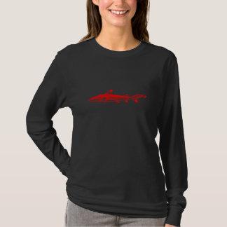 Vintage Reef Shark Illustration Red Black Sharks T-Shirt