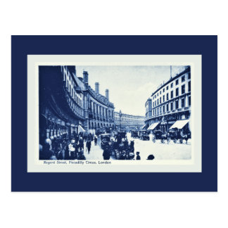 Vintage Regent Street, Piccadilly Circus, London Postcard