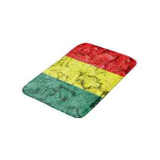 Vintage reggae flag bath mats