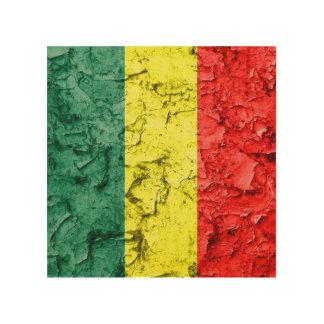 Vintage reggae flag wood print
