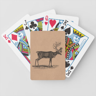 Vintage Reindeer Illustration - 1800's Christmas Bicycle Playing Cards