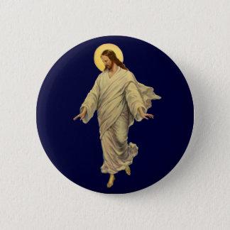 Vintage Religion, Jesus Christ in Robe Portrait 6 Cm Round Badge
