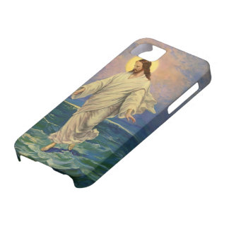 Vintage Religion, Jesus Christ is Walking on Water Case For The iPhone 5
