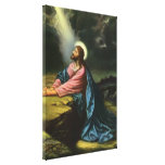 Vintage Religion, Jesus Christ Praying, Gethsemane Gallery Wrapped Canvas