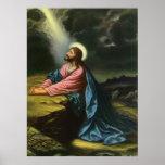 Vintage Religion, Jesus Christ Praying, Gethsemane Print