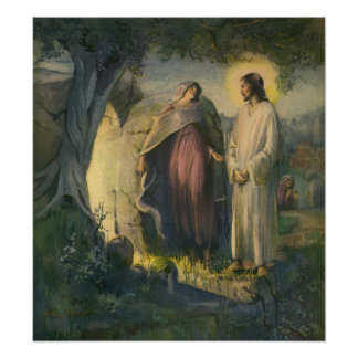 Vintage Religion, Jesus Christ Risen by Tomb Poster