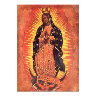 Vintage Religion Lady of Guadalupe Virgin Mary Personalized Invite