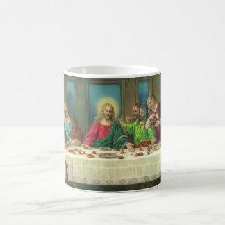 Vintage Religion, Last Supper with Jesus Christ Basic White Mug