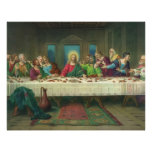 Vintage Religion, Last Supper with Jesus Christ Poster