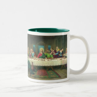 Vintage Religion, Last Supper with Jesus Christ Two-Tone Mug