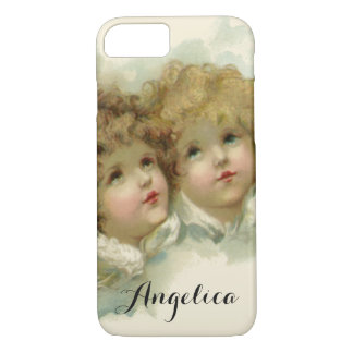 Vintage Religion, Victorian Angels in the Clouds iPhone 7 Case