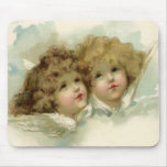 Vintage Religion, Victorian Christmas Angels Mouse Pads