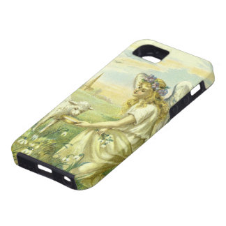 Vintage Religion, Victorian Easter Angel with Lamb iPhone 5 Cases