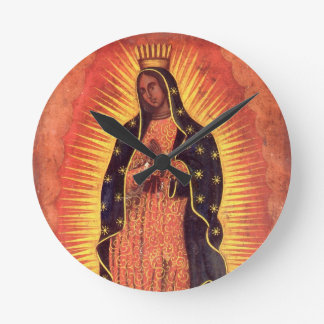 Vintage Religion, Virgin Mary, Lady of Guadalupe Clock