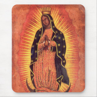 Vintage Religion, Virgin Mary, Lady of Guadalupe Mouse Pad