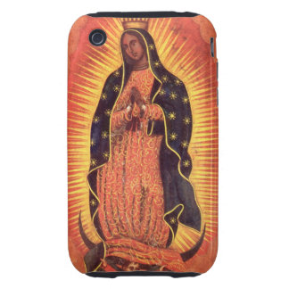 Vintage Religion, Virgin Mary, Lady of Guadalupe Tough iPhone 3 Cover