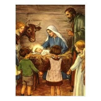 Vintage Religious Christmas Nativity Baby Jesus Postcard