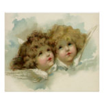 Vintage Religious Christmas, Victorian Angels Posters
