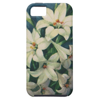 Vintage Religious Easter Greetings, Lily Flowers iPhone 5 Cover