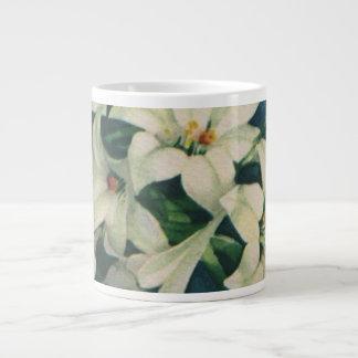 Vintage Religious Easter Greetings, Lily Flowers Jumbo Mug
