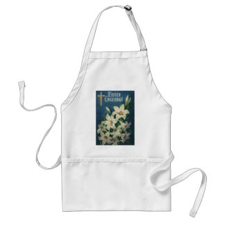 Vintage Religious Easter Greetings with Lilies Apron