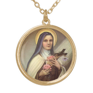 Vintage Religious Easter, Nun with Cross Gold Plated Necklace