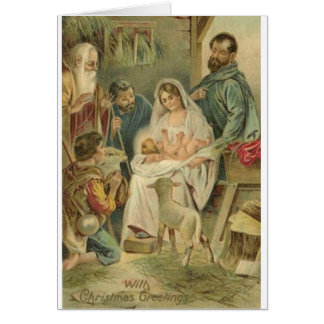 Vintage Religious Nativity Christmas Card