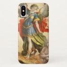 Vintage Religious, Saint Michael Defeats Lucifer iPhone X Case