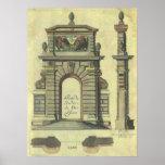 Vintage Renaissance Architecture, Garden Gate Arch Print