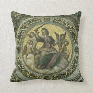 Vintage Renaissance Art, Justice by Raphael Cushion