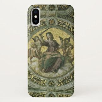 Vintage Renaissance Art, Justice by Raphael iPhone X Case