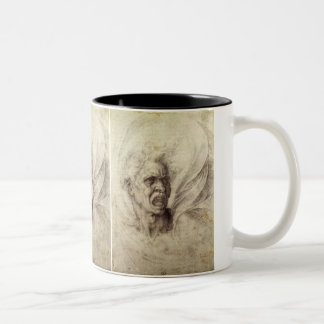 Vintage Renaissance, Damned Soul by Michelangelo Two-Tone Coffee Mug