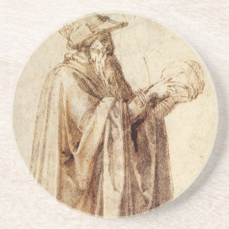 Vintage Renaissance, Philosopher by Michelangelo Coaster