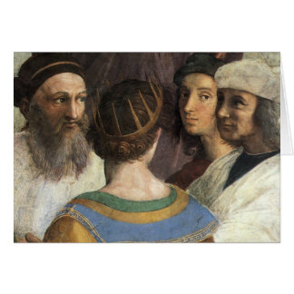Vintage Renaissance, School of Athens by Raphael Greeting Card