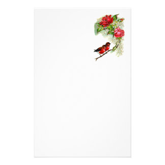 Vintage Reproduction Spring Robins Stationery