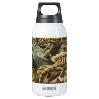 Vintage Reptile Art Insulated Water Bottle