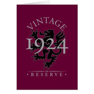 Vintage Reserve 1924 Cards