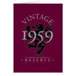 Vintage Reserve 1959 Greeting Card