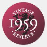 Vintage Reserve 1959 Round Sticker