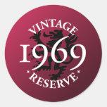 Vintage Reserve 1969 Round Sticker