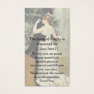 Vintage Response Card, City Dance by Renoir