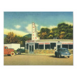 Vintage Restaurant, 50s Drive In Diner and Cars Custom Invitations